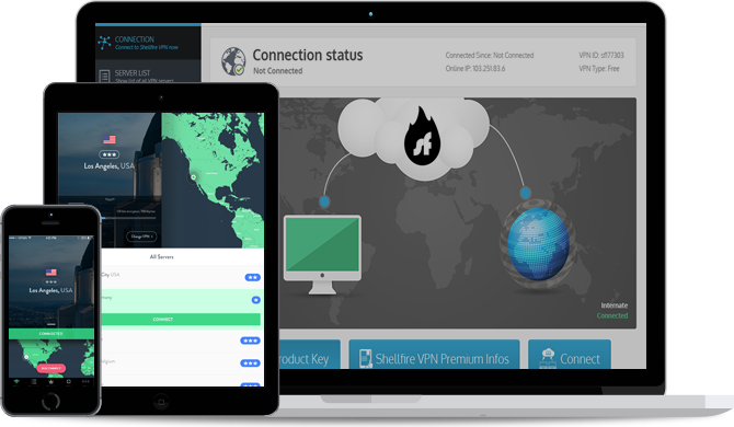 Screenshots de Shellfire VPN pour iPhone/iPad, Windows et Mac OS