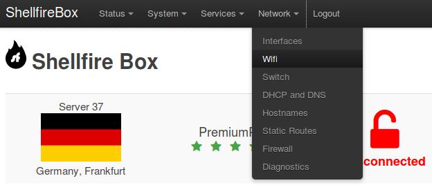 Shellfire Box Network Wifi